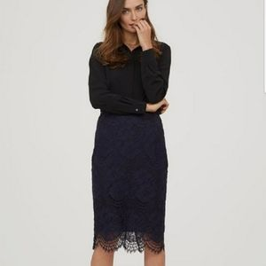 NEW H&M Lace Pencil Skirt